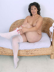 curly brunette nude milf