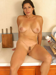 Horny brunette mom