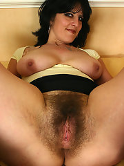 Mature brunette hairy pussy